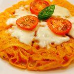 橙麺焼きパスタ トマト&チーズ