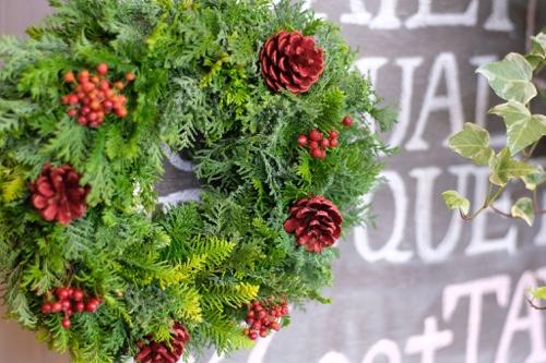 X'mas Wreath Lesson 針葉樹の葉をふんだんに使って作るクリスマスリース